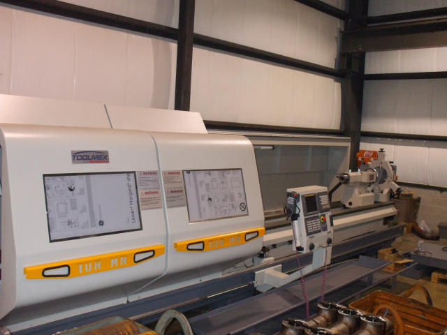 "Machine 4537, Toolmex TUR-930 MN/236 CNC Lathe, 2008, Fanuc 21iT, 37.4"" Swing x 236"" CC, 5.5"" Bore, Never Used"