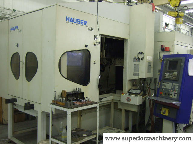 Machine 5070, Hauser S55-400 CNC Jig Grinder, 2000, 160,000 RPM, 8 ATC, Interchangeable Pallets