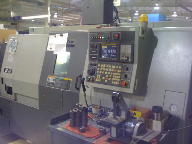 "Machine 5187, Hyundai-Kia SKT21LMS, 2007, 8"" Chuck, Live Tools, Sub-Spindle, Fanuc 0iT"